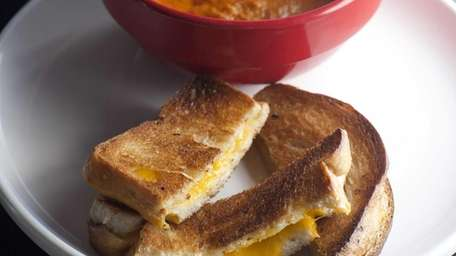A grilled cheese sandwich at The Classic American