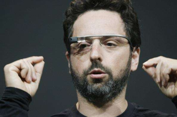 Sergey Brin, co-founder of Google appear at the