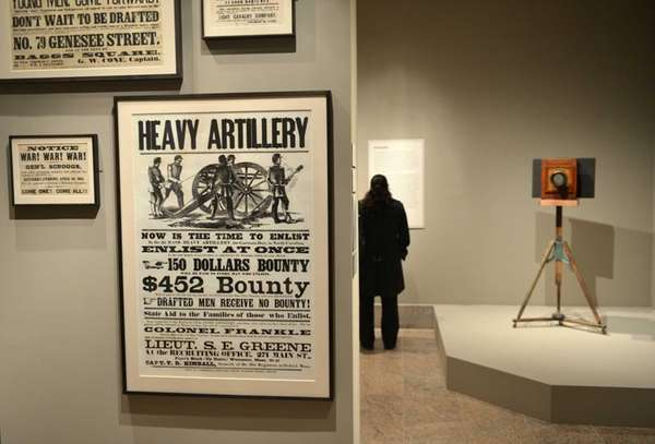 "American Civil War-era enlistment posters and ""Mathew B."