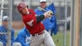 Clarke's Matt Seelinger hits a two-run double against