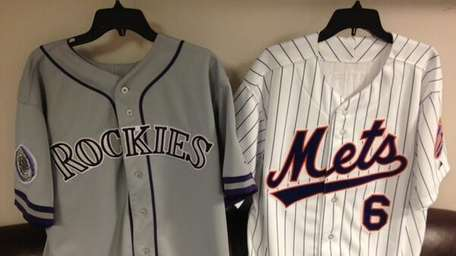 A side-by-side photo of the Colorado Rockies' throwback