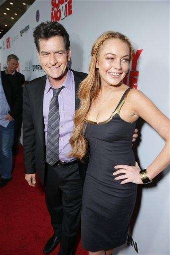 Charlie Sheen and Lindsay Lohan, who starred together