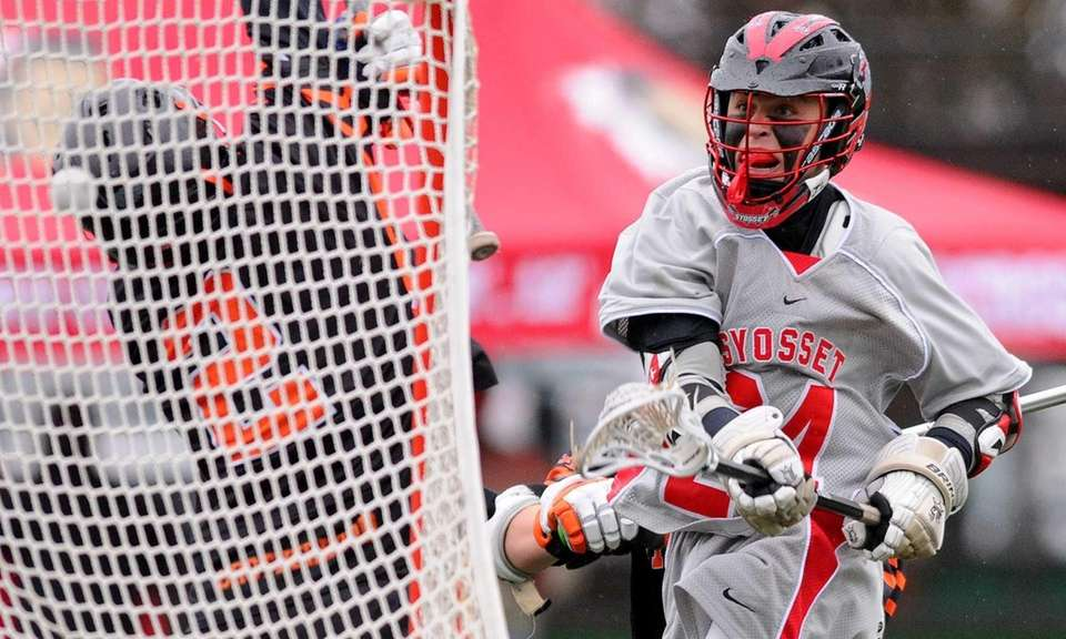 Syosset junior Anthony Carchietta shoots high to score