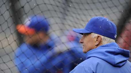 Terry Collins of the Mets looks on as