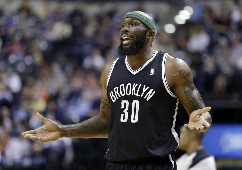 Nets forward Reggie Evans questions his first technical
