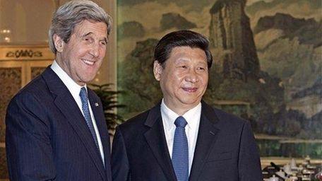 Secretary of State John Kerry and Chinese President