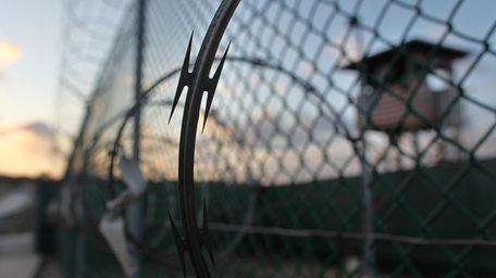 The sun rises over the Guantanamo detention facility