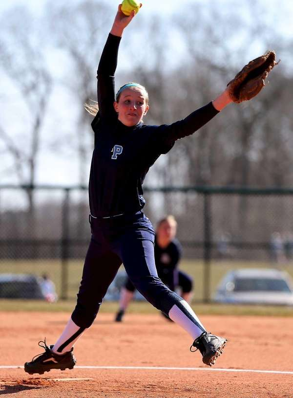 Rocky Point pitcher Annie Kennedy delivers a pitch