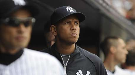 Alex Rodriguez of the Yankees is seen in