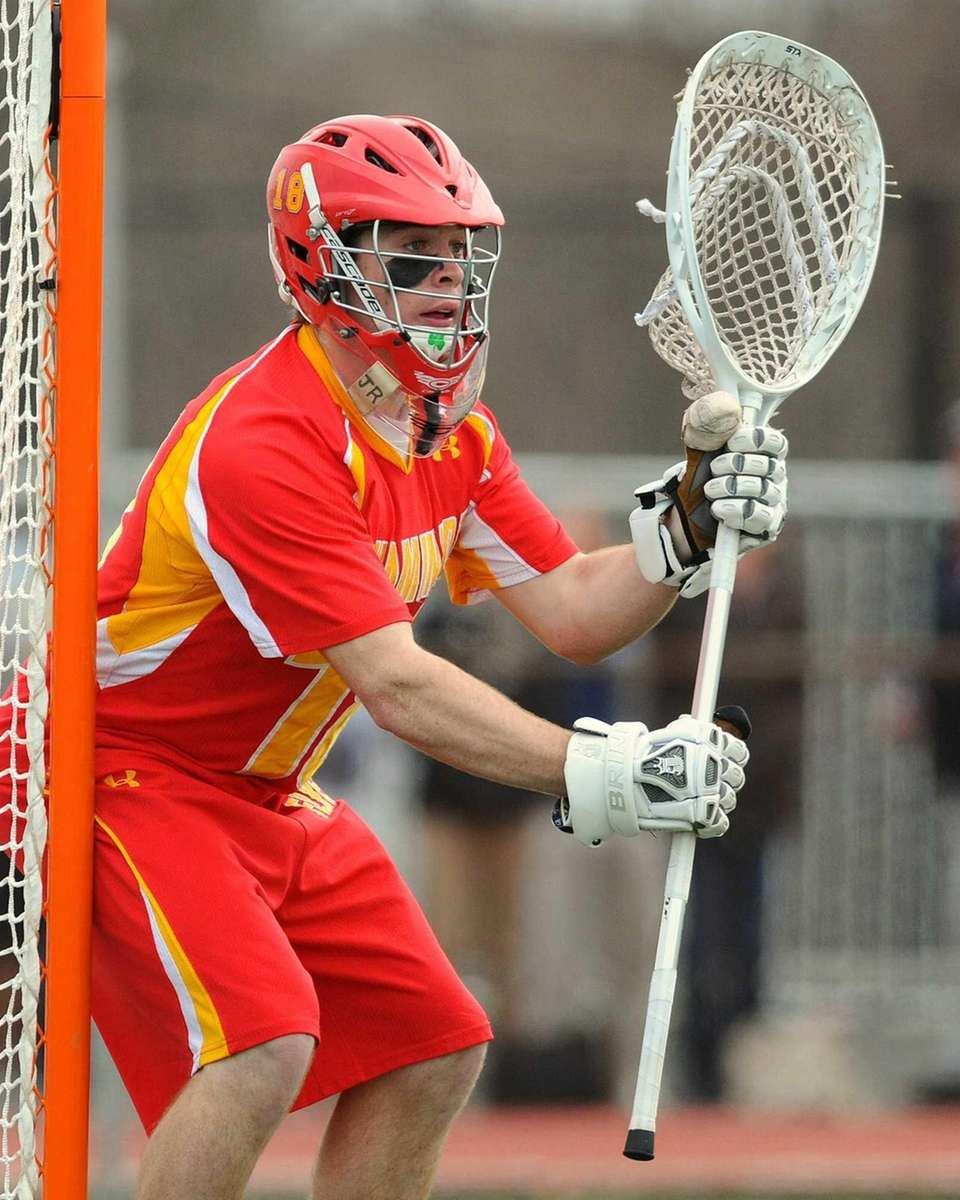 Chaminade goalie Daniel Fowler squares to a shooter