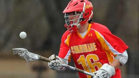 Chaminade's Kristopher Clarke gains possession after taking a