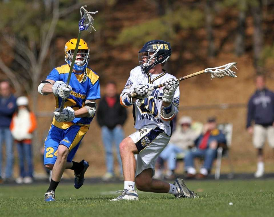 Shoreham-Wading River's Tim Rotanz looks to pass while