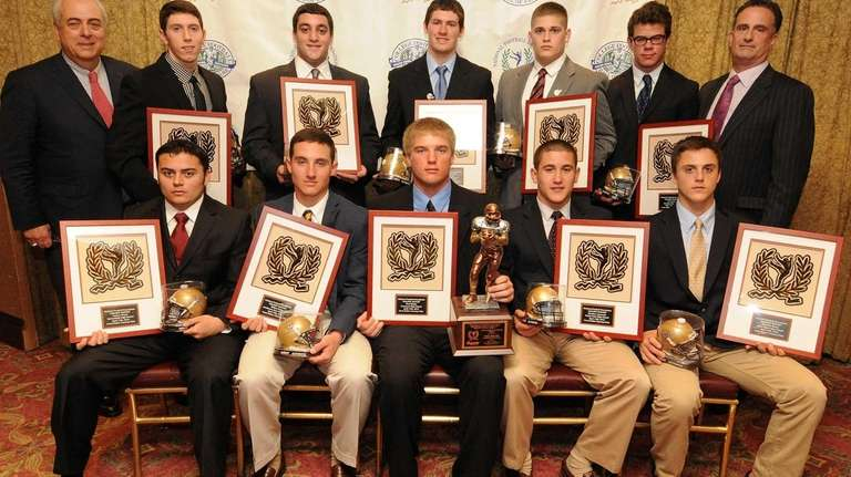 Suffolk County Golden Eleven award winners pose for