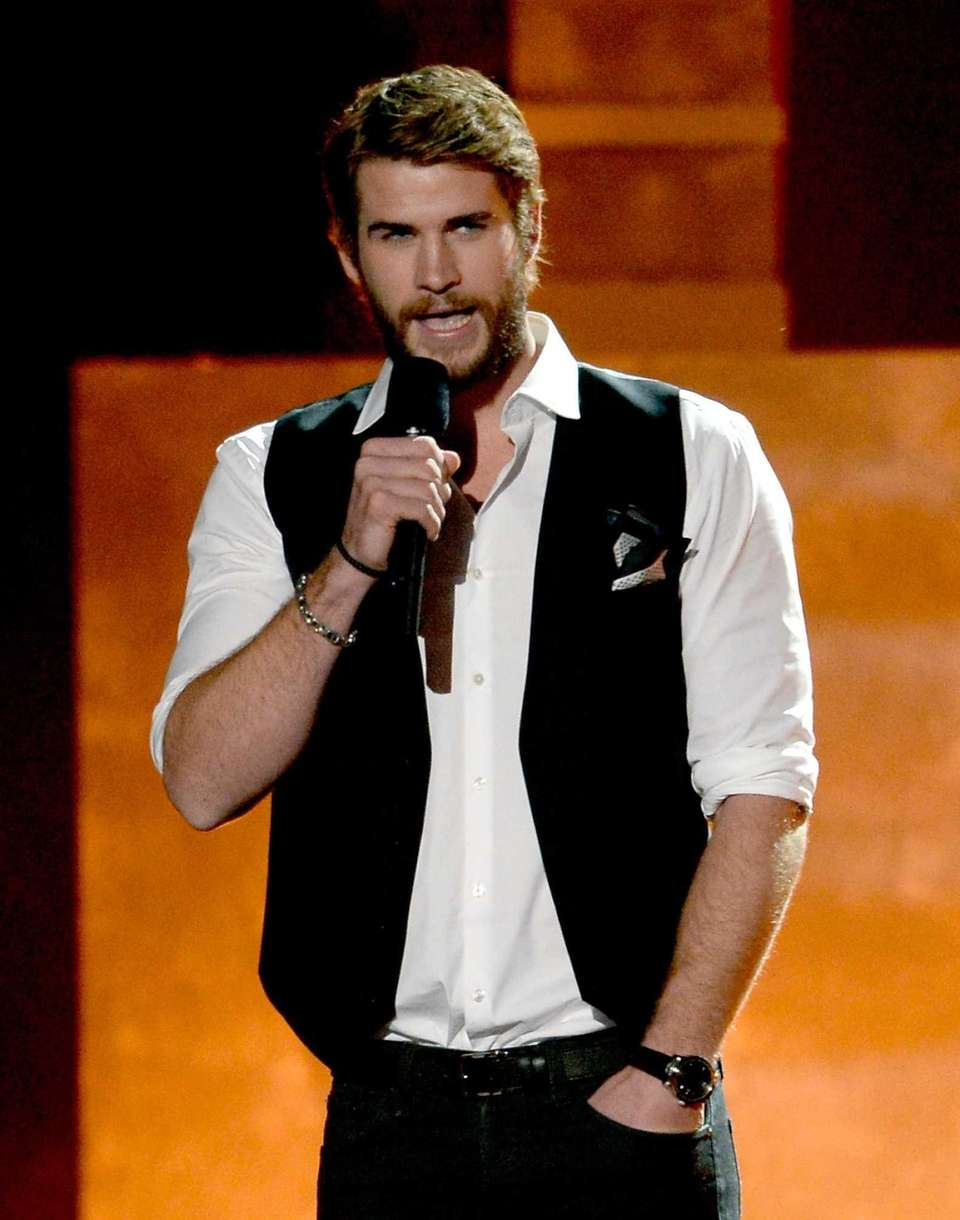 Actor Liam Hemsworth appears during the 2013 MTV