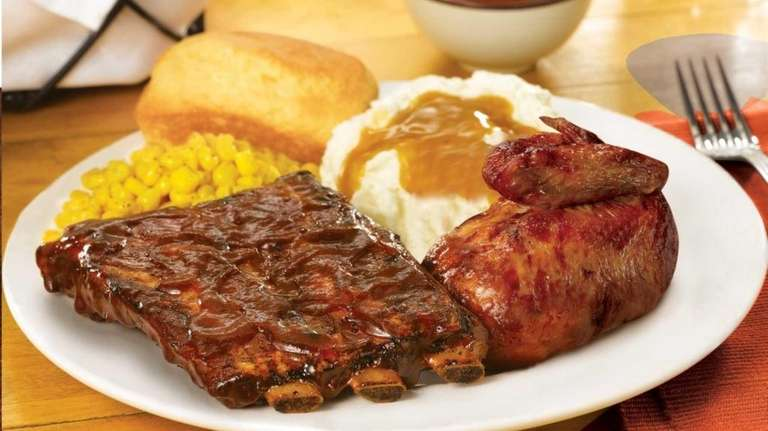 Boston Market's new St. Louis-style ribs. For April