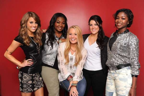 "The last five contestants of ""American Idol"" Season"