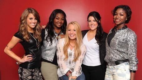 The last five contestants of
