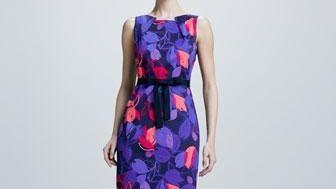 Printed Elie Tahari dresses, like this one, are