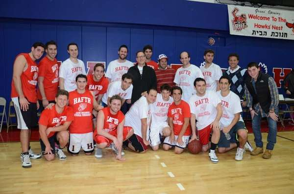 Alumni and coaches of the Hebrew Academy of