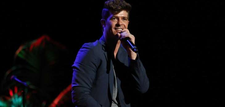 "Robin Thicke performs at the ""Voices On Point"""