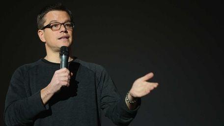 Matt Damon answers questions from fans following the