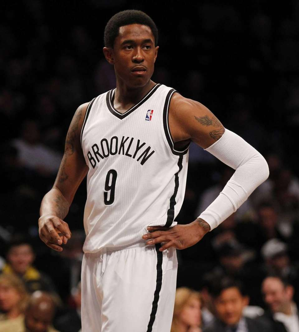 MarShon Brooks looks on during a game against