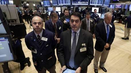Traders on the floor of the New York