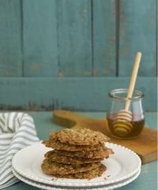 "One-pot honey-oatmeal drop cookies from ""Simply Sensational Cookies,"""