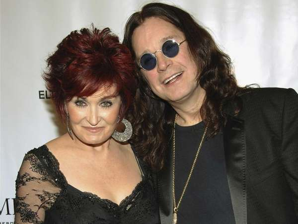Sharon and Ozzy Osbourne at the Elton John