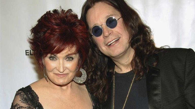 Sharon and Ozzy Osbourne at the Elton John