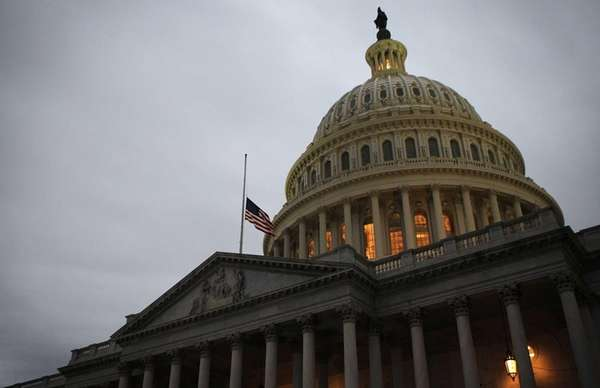 The dome of the U.S. Capitol. (April 15,