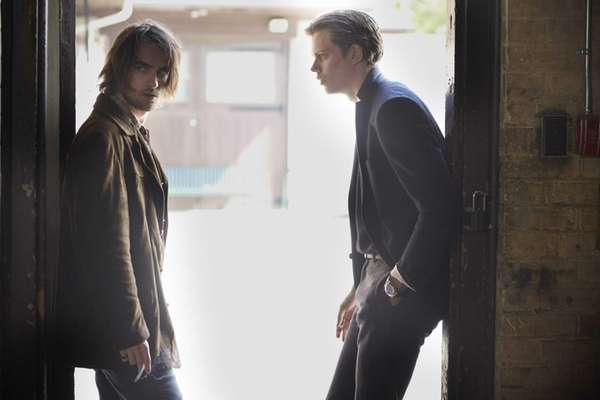 From left, Landon Liboiron and Bill Skarsgard in
