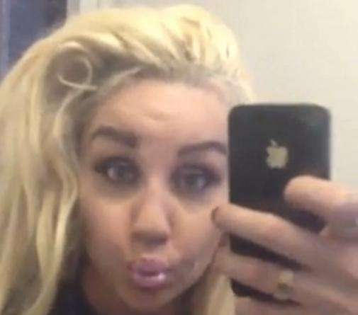 A screenshot from Amanda Bynes' selfie video posted