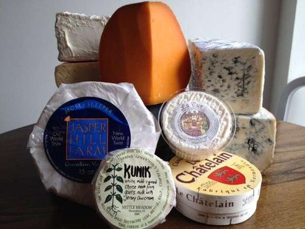 A selection of cheeses at C'est Cheese in