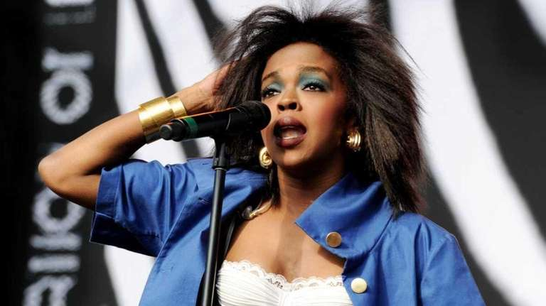 Singer Lauryn Hill performs at L.A. Rising at