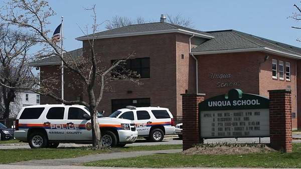 Unqua Elementary School was evacuated after receiving a