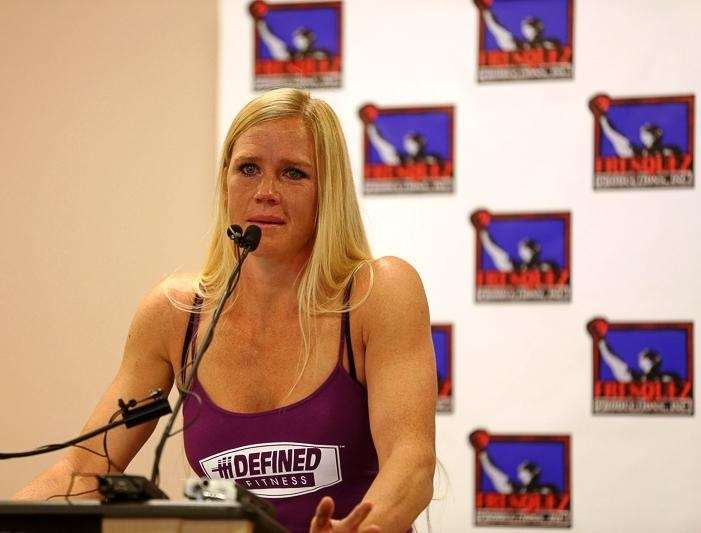 Holly Holm, a 14-time world boxing champion, announces