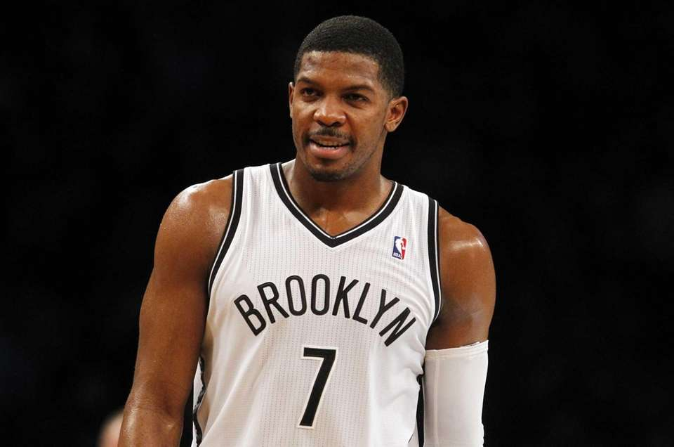 Joe Johnson looks on during a game against