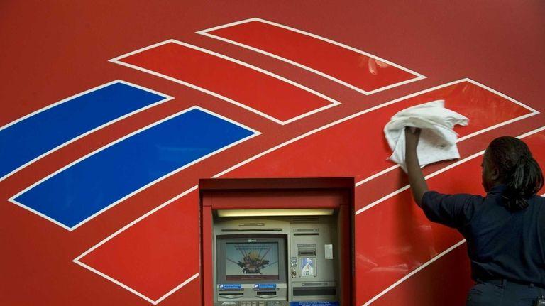 A bank kiosk in North Carolina gets a