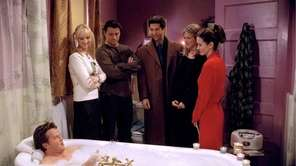 From left, Lisa Kudrow, Matt LeBlanc, David Schwimmer,