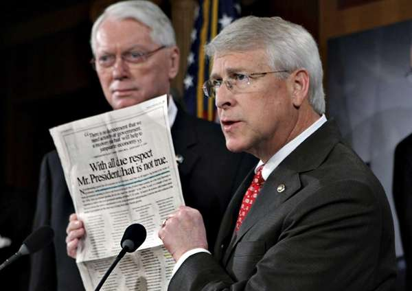 In this file photo Sen. Roger Wicker, R-Miss.,