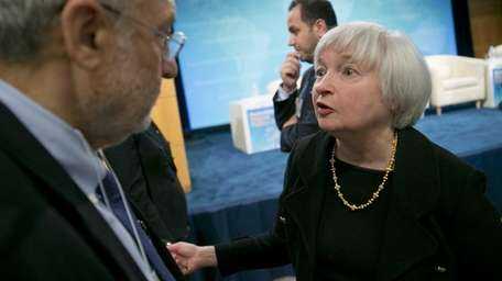 Federal Reserve vice chair Janet Yellen, at an