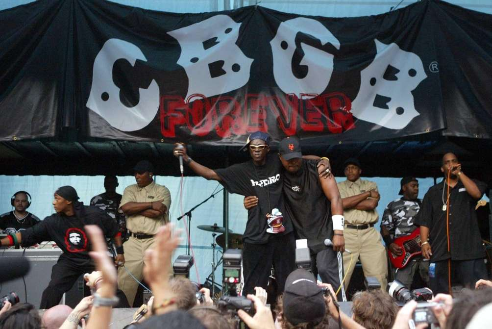 Public Enemy performs during the