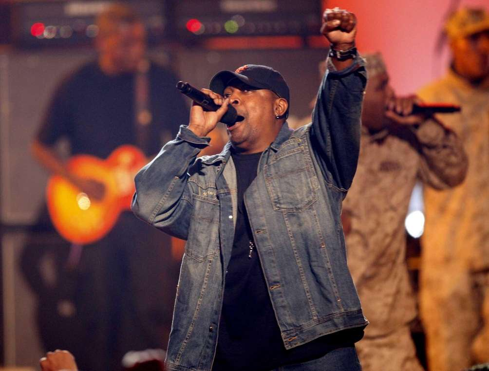Chuck D performs at the BET Awards in