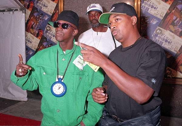 Flavor Flav, left, and Chuck D. of the