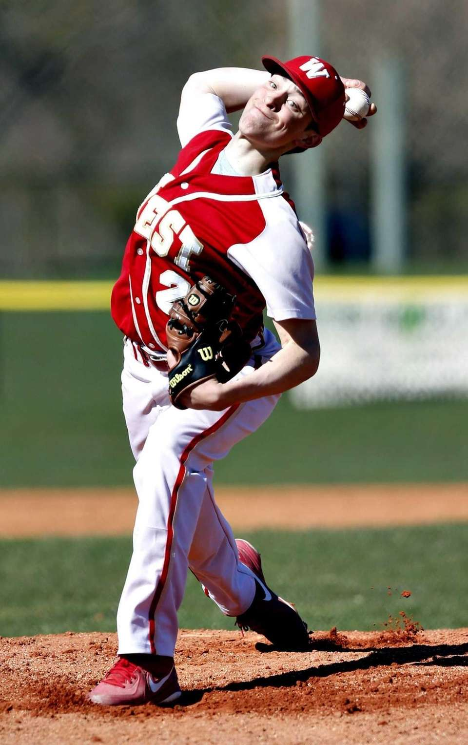 Hills West starting pitcher T.J. Montalbano throws against