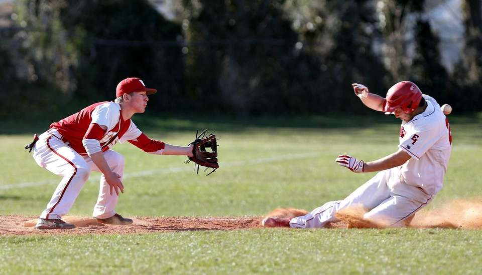 East Islip's Ken Rotunno slides into third in