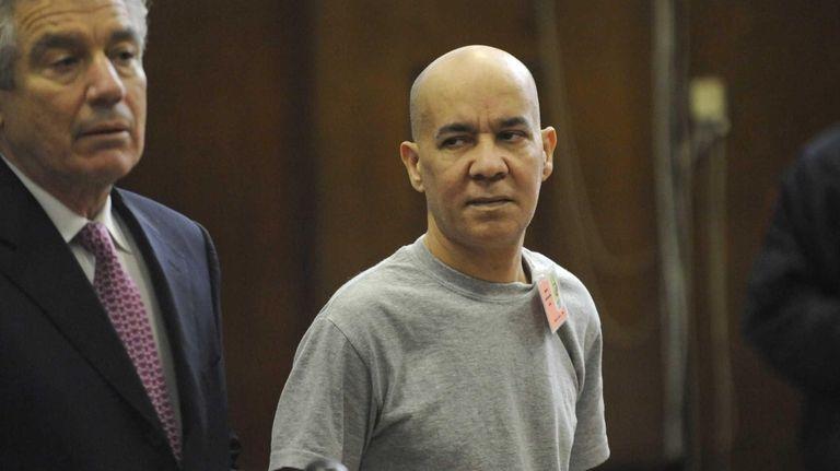 Pedro Hernandez, right, appears in Manhattan criminal court