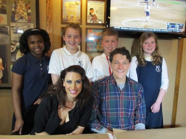 Kidsday reporters Halle Dixon, Alex Smith, Ethan Aube,