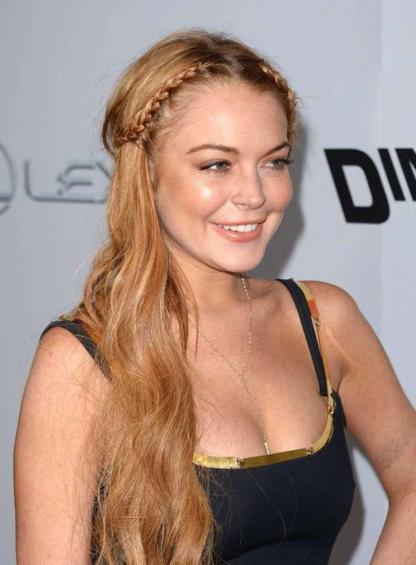 Lindsay Lohan arrives at the Dimension Films'